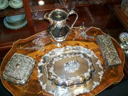 As Time Goes By Antiques - Victorian Silver Serving Pieces