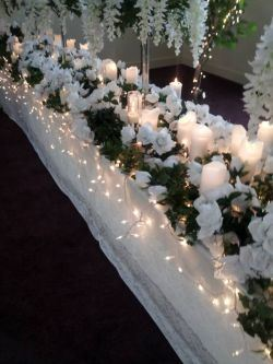 White Flowers and Decorations